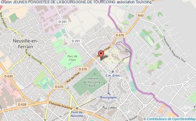 plan association Jeunes Pongistes De La Bourgogne De Tourcoing Tourcoing
