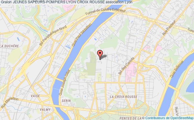 plan association Jeunes Sapeurs-pompiers Lyon Croix Rousse