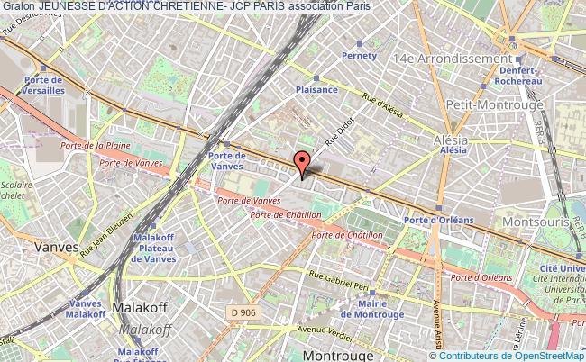 plan association Jeunesse D'action Chretienne- Jcp Paris