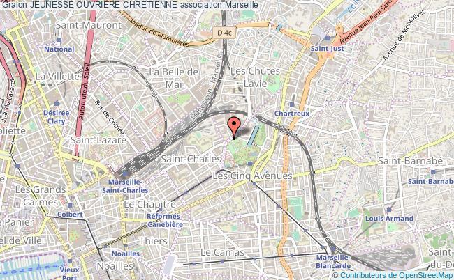 plan association Jeunesse Ouvriere Chretienne Marseille