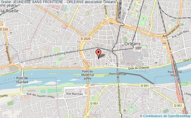 plan association Jeunesse Sans Frontiere - Orleans