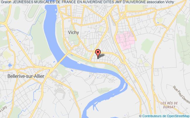 plan association Jeunesses Musicales De France En Auvergne Dites Jmf D'auvergne