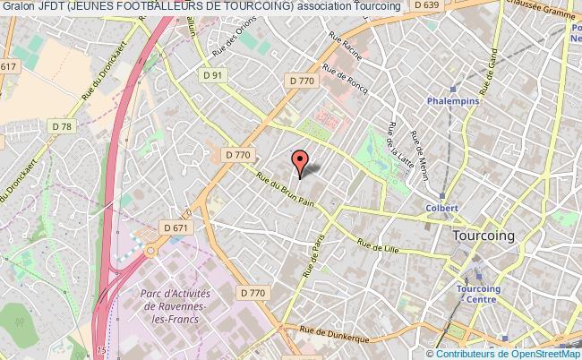 plan association Jfdt (jeunes Footballeurs De Tourcoing)