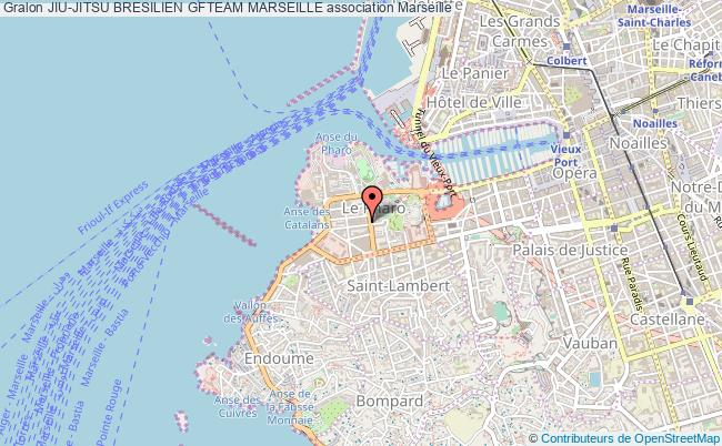 plan association Jiu-jitsu Bresilien Gfteam Marseille