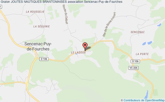 plan association Joutes Nautiques Brantomaises Sencenac-Puy-de-Fourches