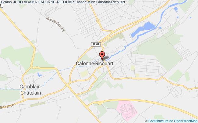 plan association Judo Acama Calonne-ricouart