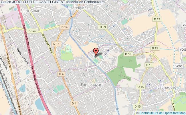 plan association Judo-club De Castelginest