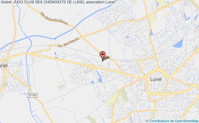 plan association Judo Club Des Cheminots De Lunel