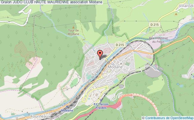 plan association Judo Club Haute Maurienne