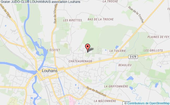 plan association Judo-club Louhannais