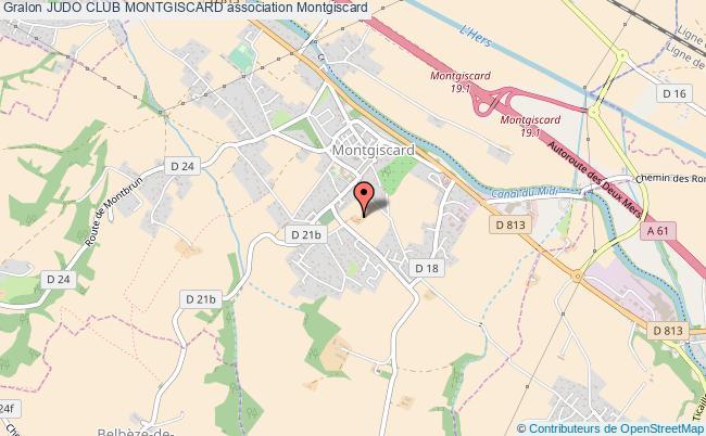 plan association Judo Club Montgiscard