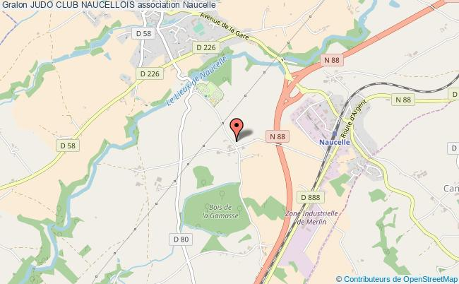 plan association Judo Club Naucellois Naucelle