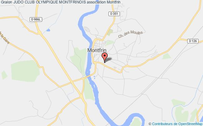 plan association Judo Club Olympique Montfrinois