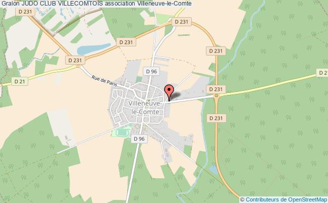 plan association Judo Club Villecomtois Villeneuve-le-Comte