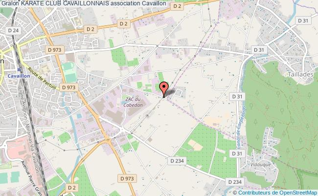 plan association Karate Club Cavaillonnais