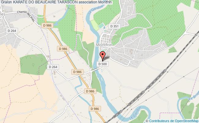 plan association Karate Do Beaucaire Tarascon