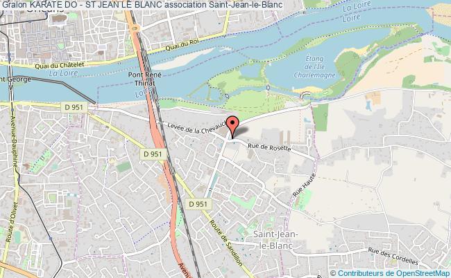 plan association Karate Do - St Jean Le Blanc