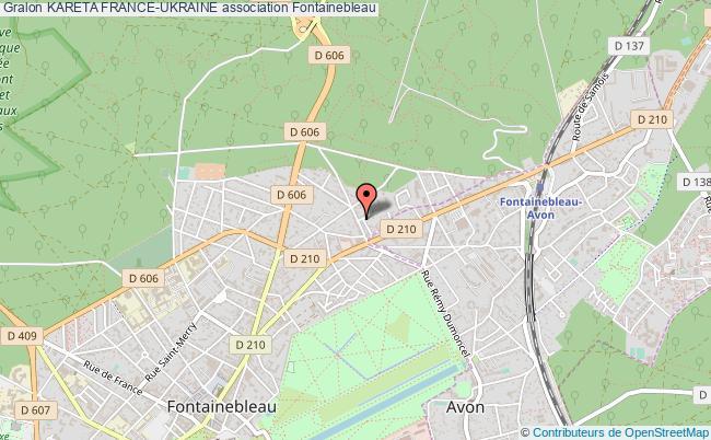 plan association Kareta France-ukraine Fontainebleau