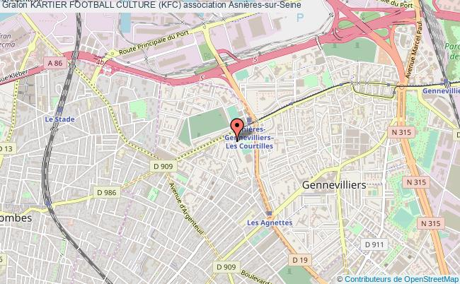 plan association Kartier Football Culture (kfc) Asnières-sur-Seine