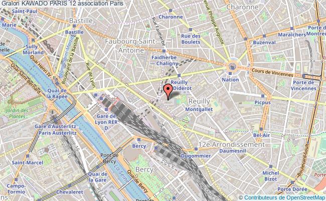 plan association Kawado Paris 12 Paris