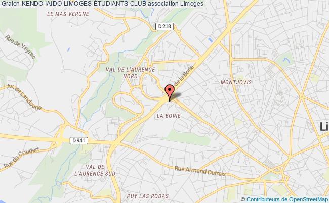 plan association Kendo Iaido Limoges Étudiants Club
