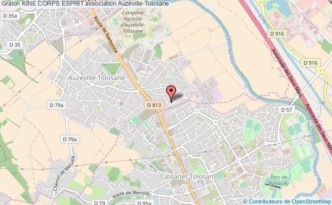 plan association Kine Corps Esprit Auzeville-Tolosane