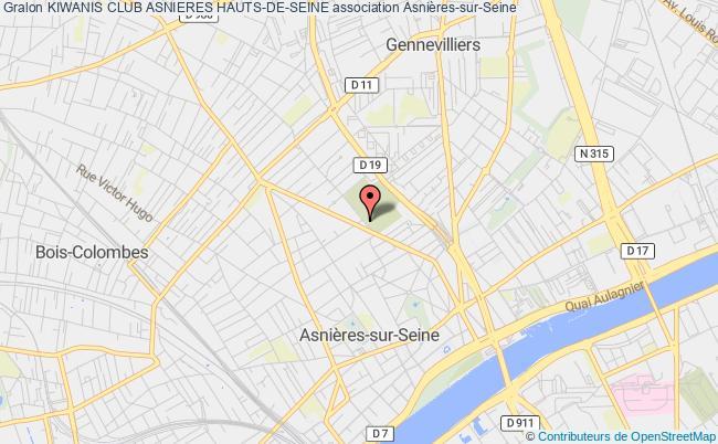 plan association Kiwanis Club Asnieres Hauts-de-seine Asnières-sur-Seine