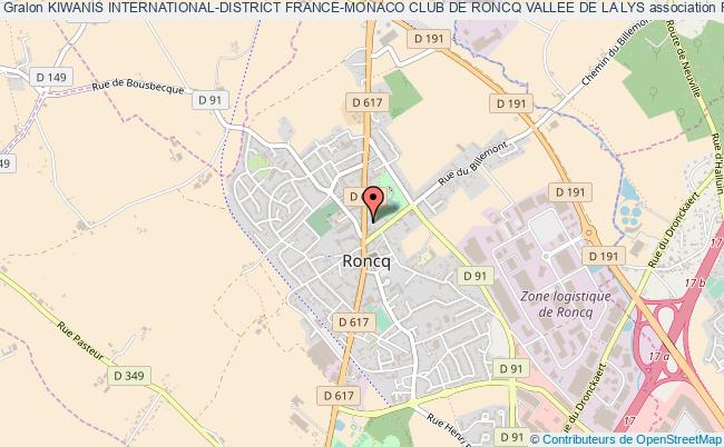 plan association Kiwanis International-district France-monaco Club De Roncq Vallee De La Lys