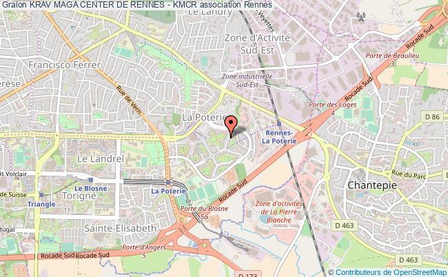 plan association Krav Maga Center De Rennes - Kmcr