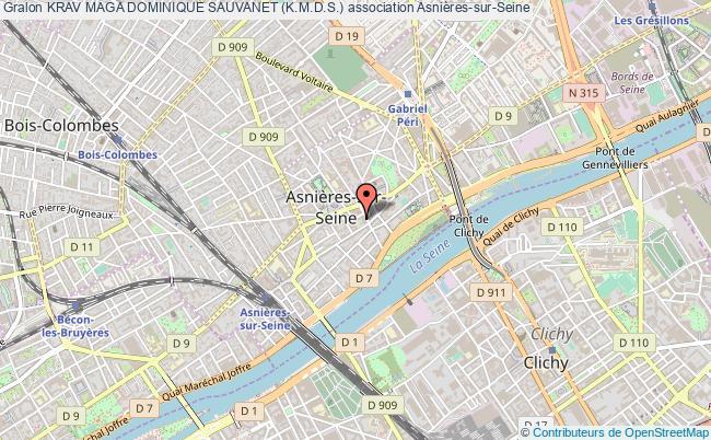 plan association Krav Maga Dominique Sauvanet (k.m.d.s.) Asnières-sur-Seine