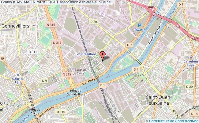 plan association Krav Maga Paris Fight Asnières-sur-Seine