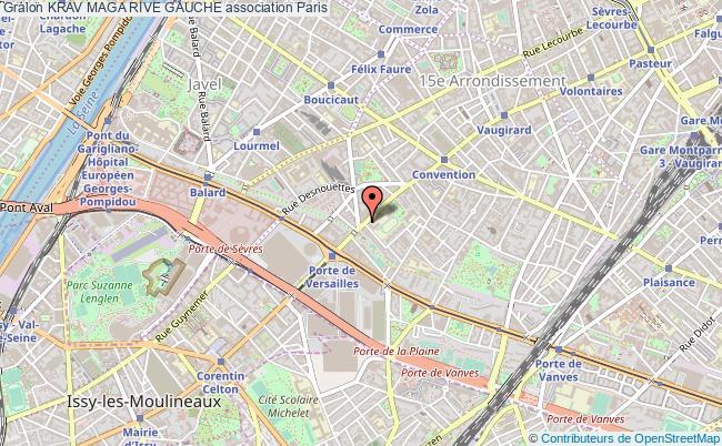 plan association Krav Maga Rive Gauche Paris
