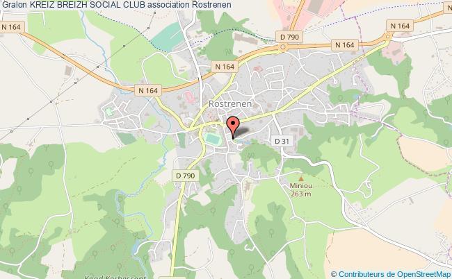 Carte Bretagne Rostrenen.Kreiz Breizh Social Club Association Association Centre