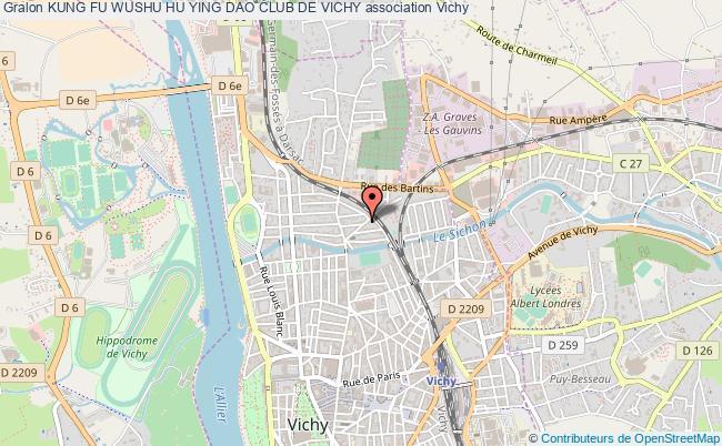 plan association Kung Fu Wushu Hu Ying Dao Club De Vichy