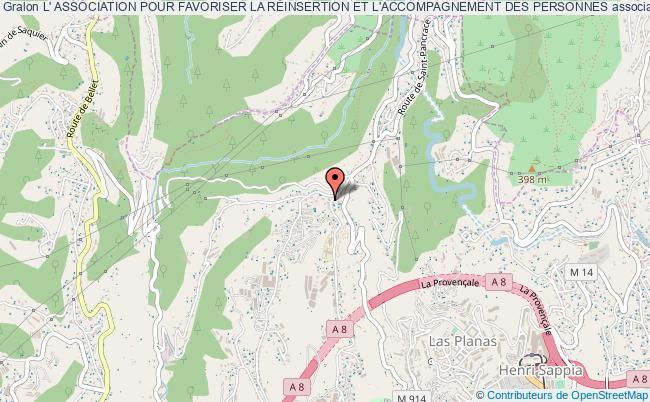 plan association L' Association Pour Favoriser La RÉinsertion Et L'accompagnement Des Personnes Nice