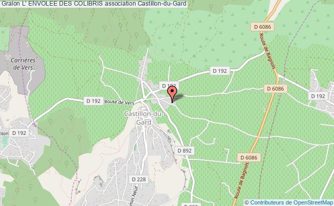 plan association L' Envolee Des Colibris Castillon-du-Gard