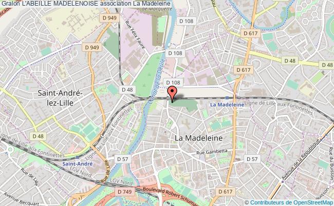 plan association L'abeille Madelenoise Madeleine