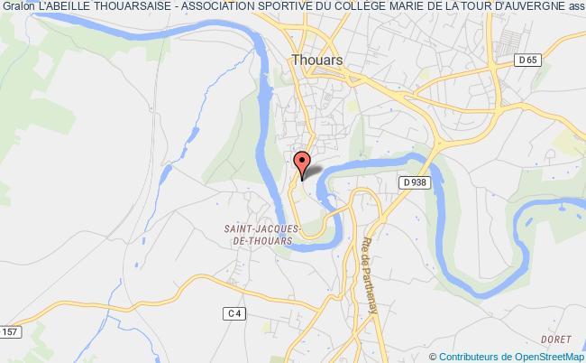 plan association L'abeille Thouarsaise - Association Sportive Du CollÈge Marie De La Tour D'auvergne