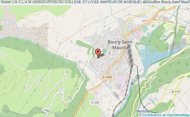 plan association L'a.c.l.a.m (association Du College Et Lycee Amateur De Musique)