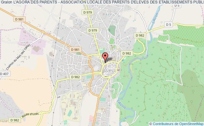 plan association L'agora Des Parents - Association Locale Des Parents D'eleves Des Etablissements Publics De L'uzege Uzès