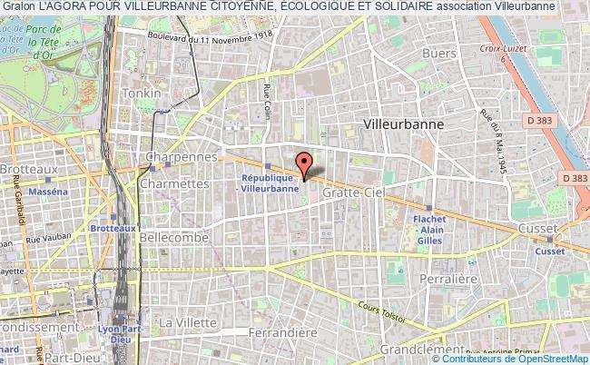 plan association L'agora Pour Villeurbanne Citoyenne, Écologique Et Solidaire