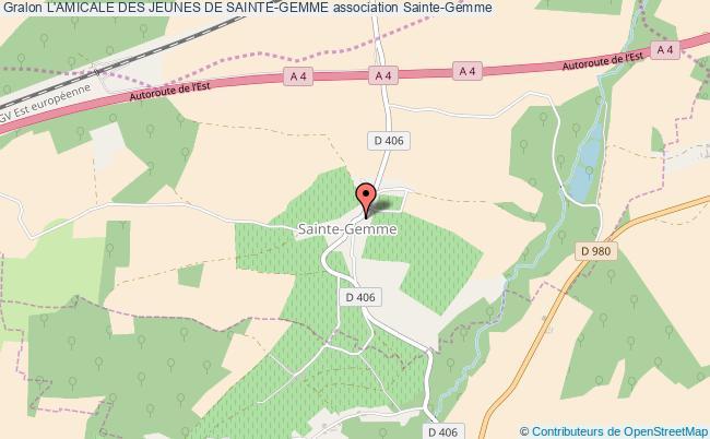 plan association L'amicale Des Jeunes De Sainte-gemme