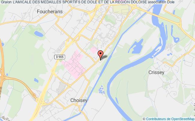 plan association L'amicale Des Medailles Sportifs De La Region Doloise Dole