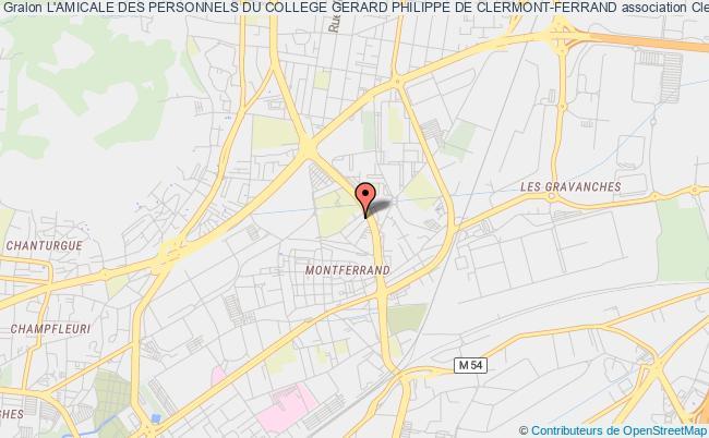 plan association L'amicale Des Personnels Du College Gerard Philippe De Clermont-ferrand