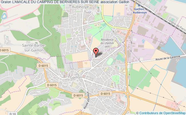 plan association L'amicale Du Camping De Bernieres Sur Seine Gaillon