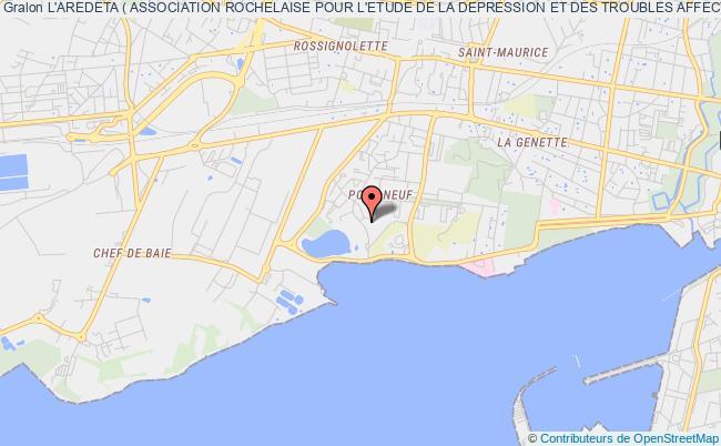 plan association L'aredeta ( Association Rochelaise Pour L'etude De La Depression Et Des Troubles Affectifs ) La Rochelle