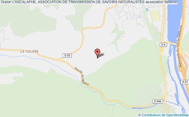 plan association L'ascalaphe, Association De Transmission De Savoirs Naturalistes