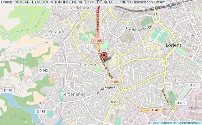 plan association L'ass-i-b- L (association Ingenerie Biomedical De Lorient)