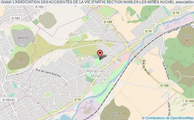 plan association L'association Des Accidentes De La Vie (fnath) Section Marles-les-mines Auchel