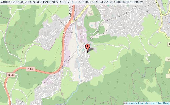 plan association L'association Des Parents D'ÉlÈves Les P'tiots De Chazeau Firminy